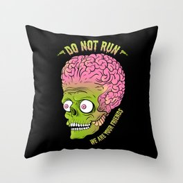 Friends of Mars Throw Pillow
