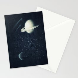 Deep Blue Space Stationery Cards
