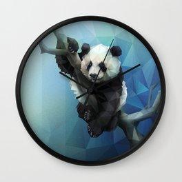 Panda (Blue) Wall Clock