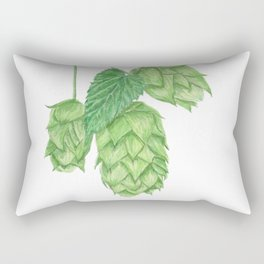 Beer Hop Flowers Rectangular Pillow