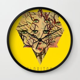 Eldritch Treeface Wall Clock