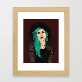 Halsey Illustration Framed Art Print