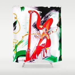 HARPIST                by Kay Lipton Shower Curtain