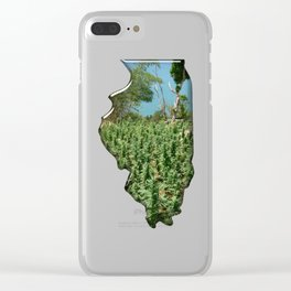 Green Illinois Clear iPhone Case