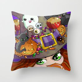 Candy Witch Throw Pillow