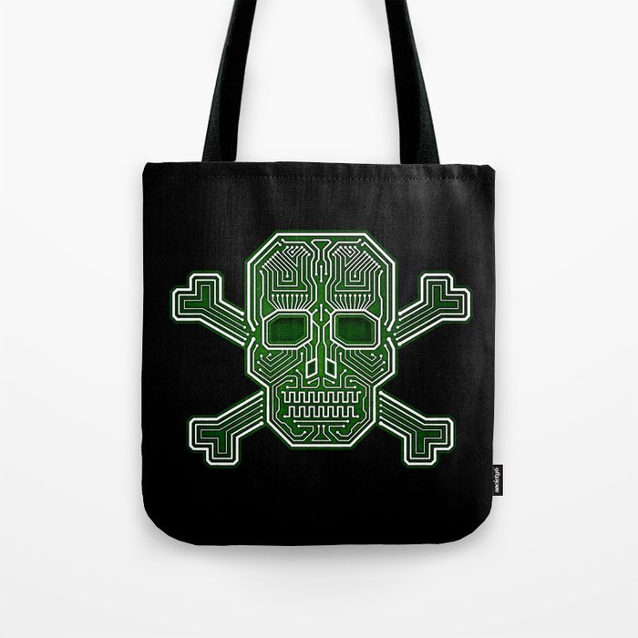 Hacker Skull Crossbones (isolated version) Tote Bag