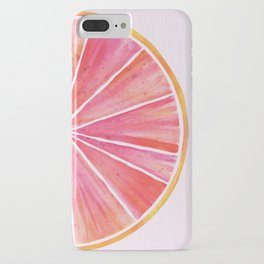 Sunny Grapefruit Watercolor iPhone Case
