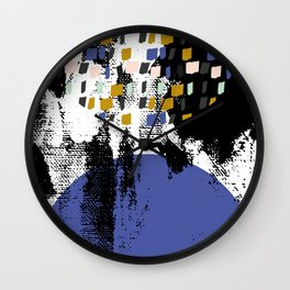 Rising moon over Disko Bay Wall Clock