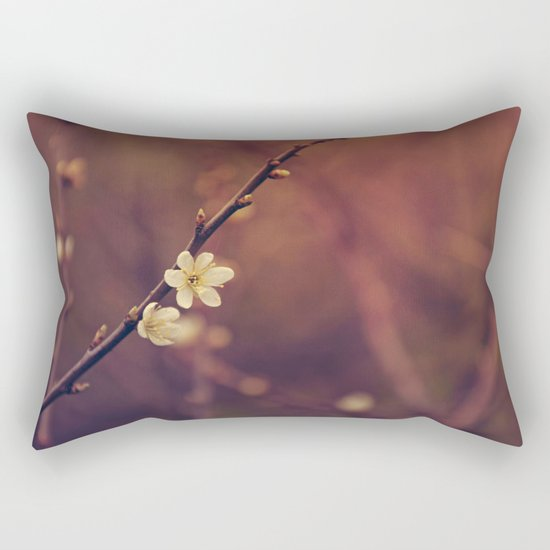 White Cherry blossom Rectangular Pillow