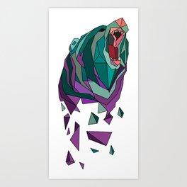polygonal bear Art Print