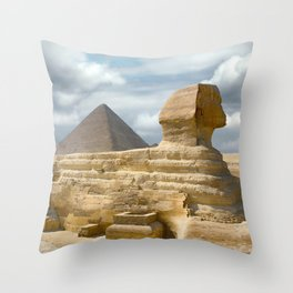 Full Sphinx with Pyramid  Egypt Throw Pillow