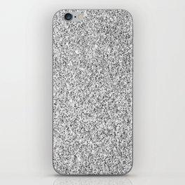Beautiful Silver glitter sparkles iPhone Skin