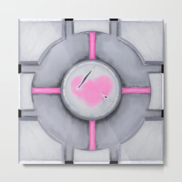 Companion Cube Metal Print