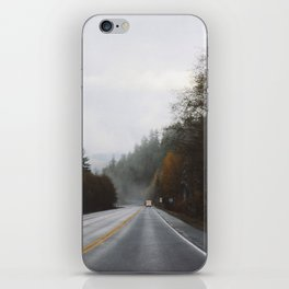 Overcast Fall Road iPhone Skin