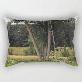 Optical Illusion, Tree-swing Rectangular Pillow