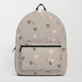 Elegant rose gold heart pattern Backpack