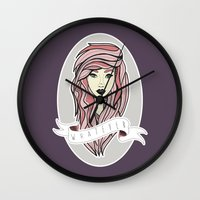 whatever Wall Clocks featuring Whatever by samantha lawson