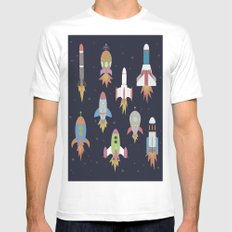 Rockets! White MEDIUM Mens Fitted Tee