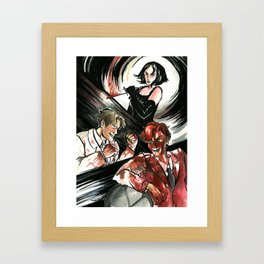 What's Black, White, and Red All Over? Framed Art Print