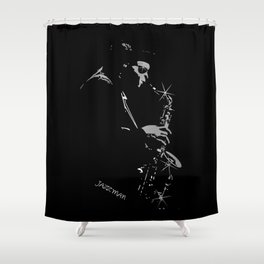 Saxophone Jazz Player Shower Curtain