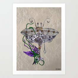Mechanical Nature Art Print