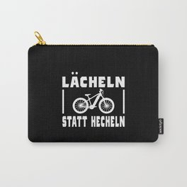 Bicycle Saying Funny Smile Instead Of Panting Carry-All Pouch