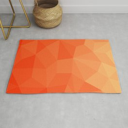 Abstract Geometric Gradient Pattern between Pure Red and very light Orange Rug