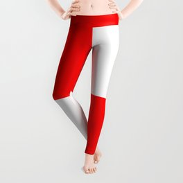 TEAM COLORS 4..red, white Leggings