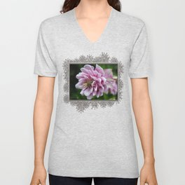 Double Columbine named Pink Tower Unisex V-Neck