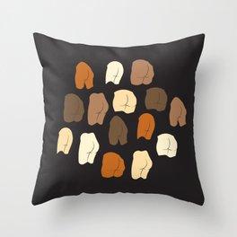 Beautiful Butts Throw Pillow