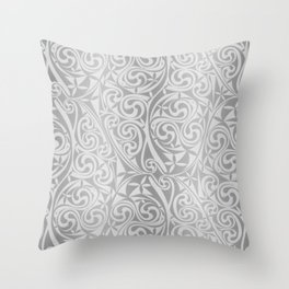 Celtic Warlord silver Throw Pillow