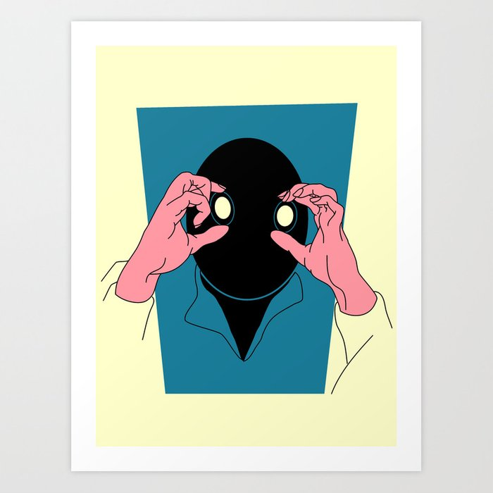 Staring is Scaring Art Print