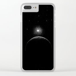 Moon Stars Space Clear iPhone Case
