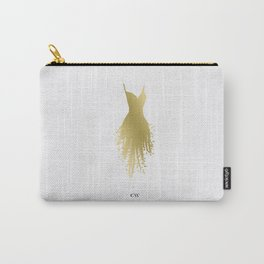 Little Gold Fringe Dress Carry-All Pouch