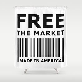 Free The Market Shower Curtain