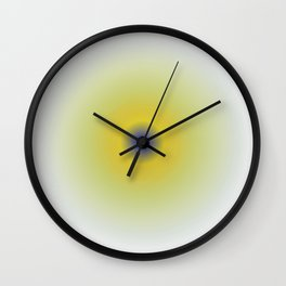 Yellow sphere Wall Clock