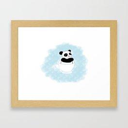 Teacup Panda Framed Art Print