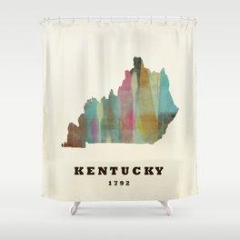 Kentucky state map modern Shower Curtain