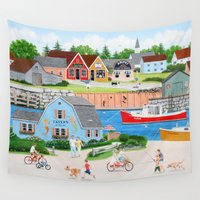 dad Wall Tapestries featuring A Day with Dad by Kirbeekatz