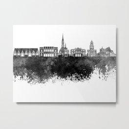 Gothenburg skyline in black watercolor Metal Print