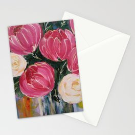 Pinks and teals Stationery Cards