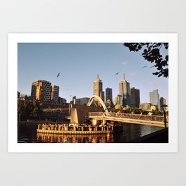 Sunset in Melbourne Art Print