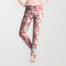 Small Spots - White and Coral Pink Leggings
