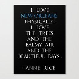 Anne Rice Canvas Print