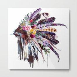 Indian Headdress Metal Print