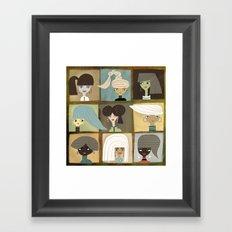 GIRLS Framed Art Print