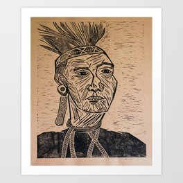 Chieftain - Block Print Art Print