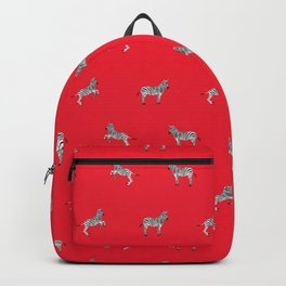 Red Zebras Backpack