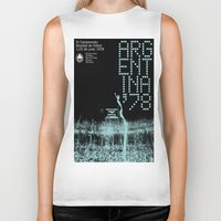 world cup Biker Tanks featuring World Cup: Argentina 1978 by James Campbell Taylor