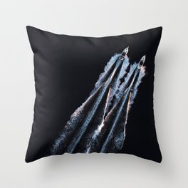 Side By Side | Minimal Aerial Print Throw Pillow